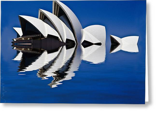 Abstract Of Sydney Opera House Greeting Card by Avalon Fine Art Photography