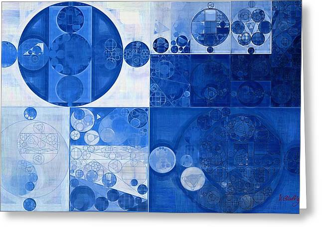 Abstract Painting - Beau Blue Greeting Card