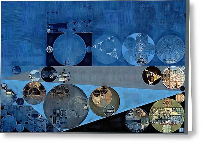 Abstract Painting - Bermuda Grey Greeting Card