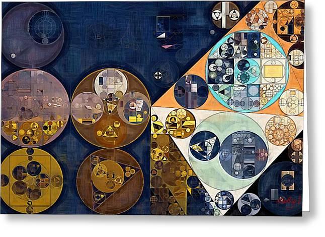 Abstract Painting - Dark Wood Greeting Card by Vitaliy Gladkiy
