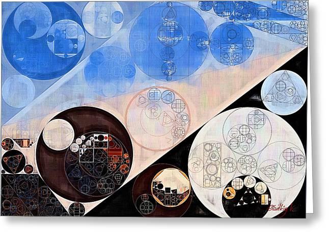 Abstract Painting - Havelock Blue Greeting Card by Vitaliy Gladkiy