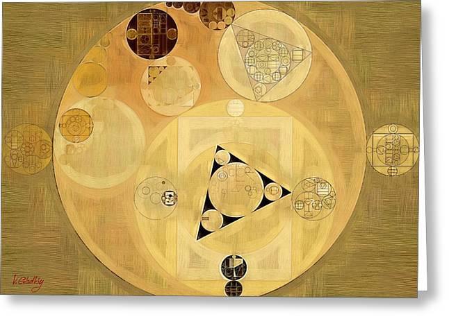 Abstract Painting - Indian Tan Greeting Card by Vitaliy Gladkiy