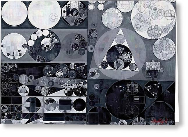 Abstract Painting - Light Gray Greeting Card by Vitaliy Gladkiy