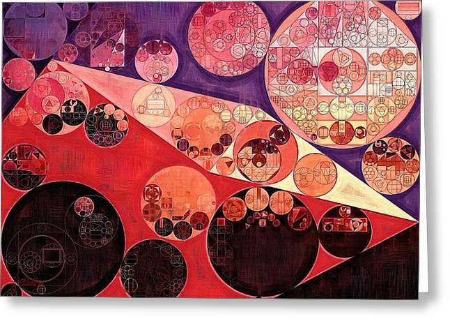 Abstract Painting - Milano Red Greeting Card by Vitaliy Gladkiy