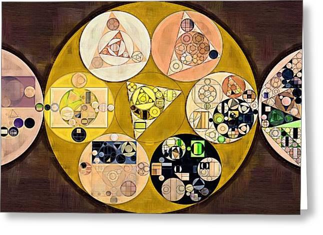 Abstract Painting - New Tan Greeting Card