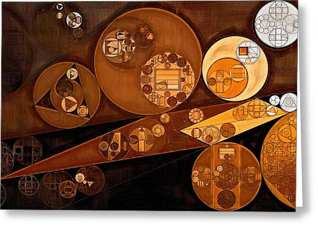Abstract Painting - Pale Gold Greeting Card by Vitaliy Gladkiy