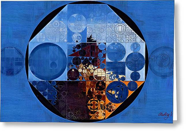 Abstract Painting - Polo Blue Greeting Card by Vitaliy Gladkiy