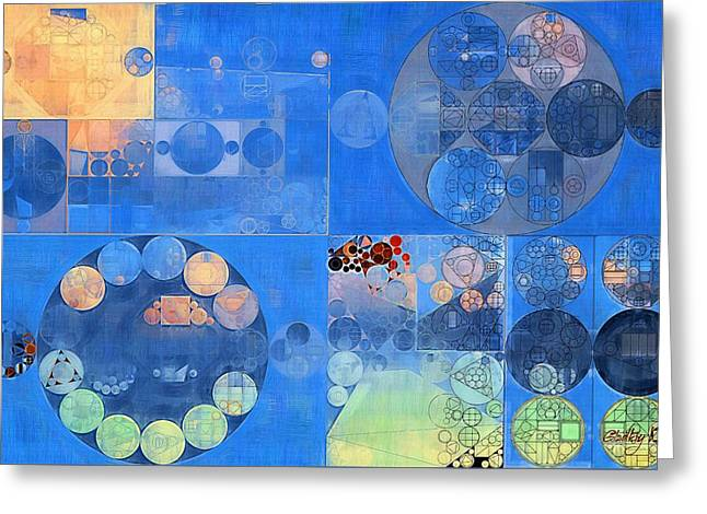 Abstract Painting - Resolution Blue Greeting Card by Vitaliy Gladkiy