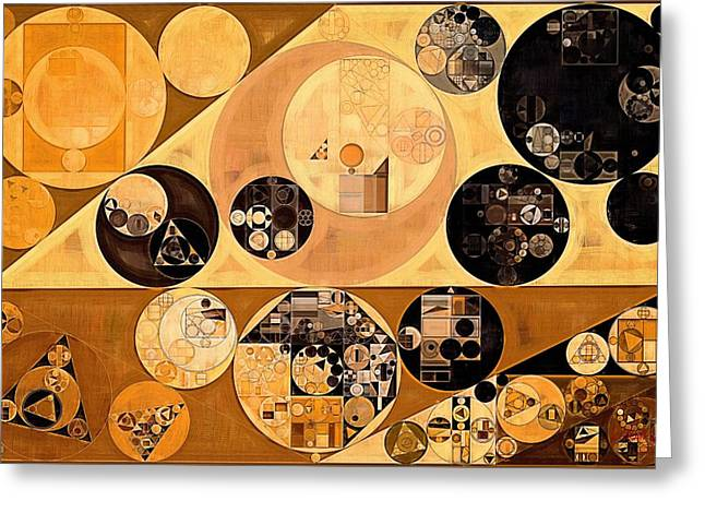 Abstract Painting - Rich Gold Greeting Card by Vitaliy Gladkiy