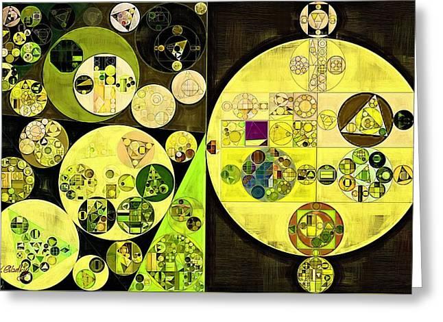 Abstract Painting - Trendy Green Greeting Card by Vitaliy Gladkiy