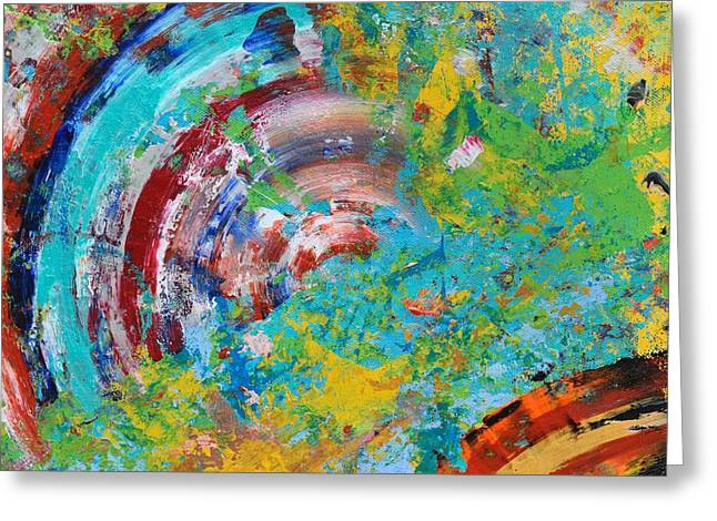 Abstract Spin Greeting Card