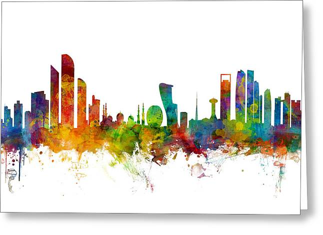 Abu Dhabi Skyline Greeting Card