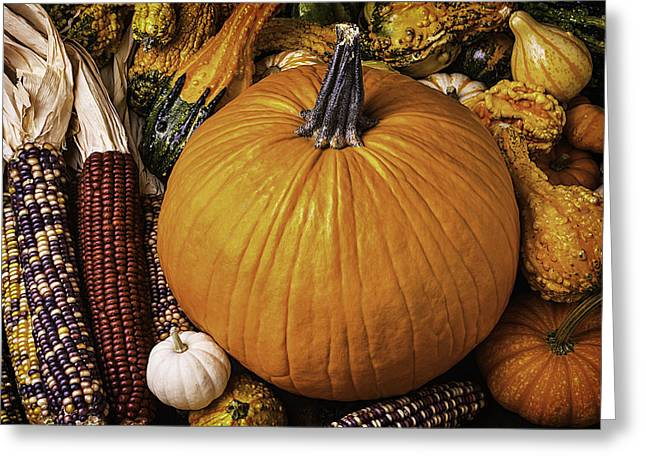 Abundance Of Autumn Greeting Card by Garry Gay
