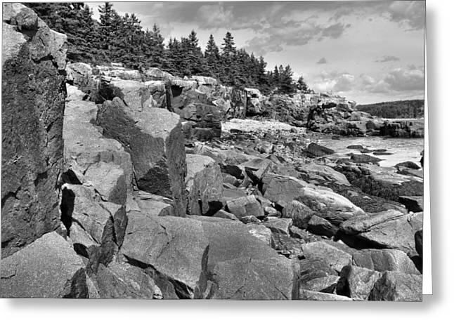 Acadia Seacoast Greeting Card by Stephen  Vecchiotti