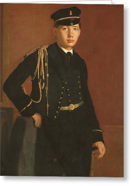Achille De Gas In The Uniform Of A Cadet Greeting Card
