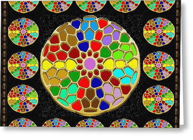 Acrylic Painted Round Colorful Jewel Patterns By Navinjoshi At Fineartamerica.com   Also Available O Greeting Card