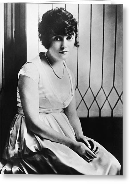 Actress Mabel Normand Greeting Card by Underwood Archives