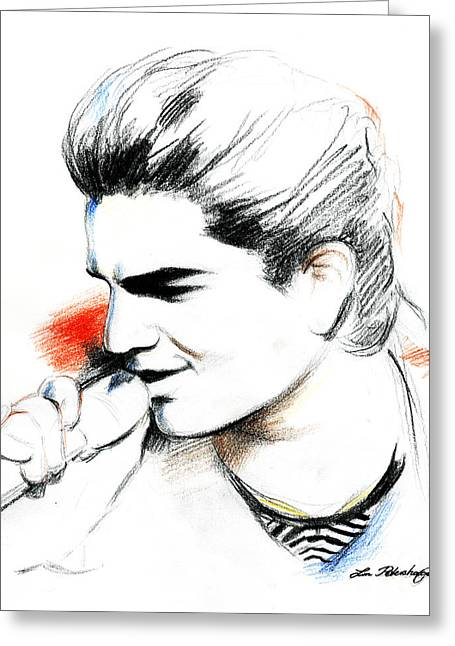 Adam Lambert Greeting Card