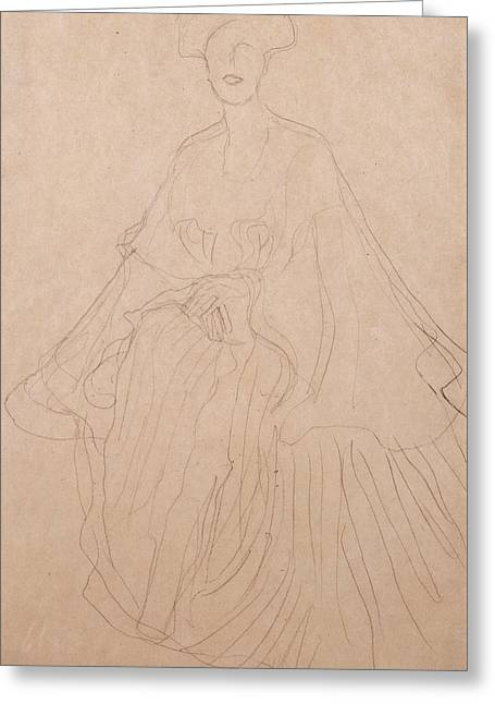 Adele Bloch Bauer Greeting Card by Gustav Klimt