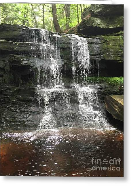 Aden Hill Waterfall Greeting Card by Kevin Croitz