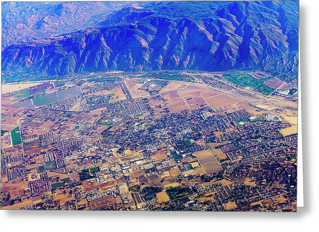 Aerial Usa. Los Angeles, California Greeting Card by Alex Potemkin