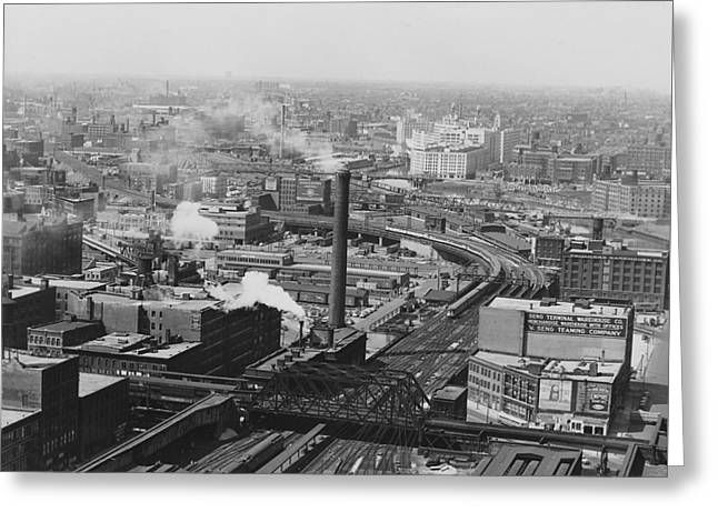 Aerial View Of Main Line Track - 1953 Greeting Card