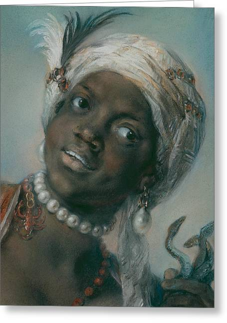 Africa Greeting Card by Rosalba Carriera