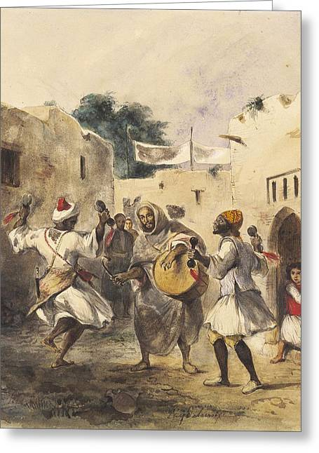 Africans Dancing In The Street Greeting Card