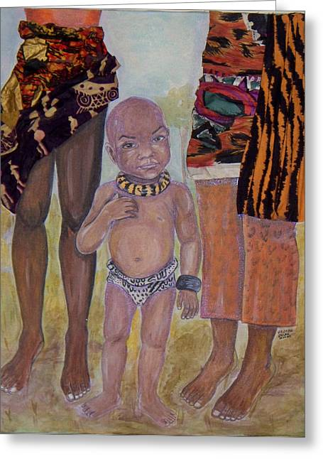 Afrik Boy Greeting Card