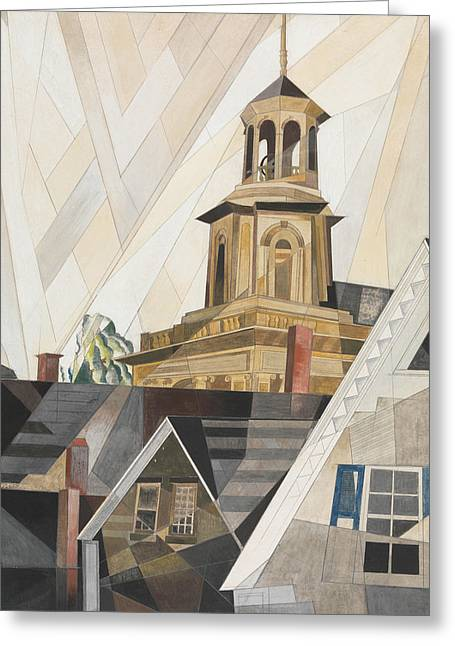 After Sir Christopher Wren Greeting Card by Charles Demuth