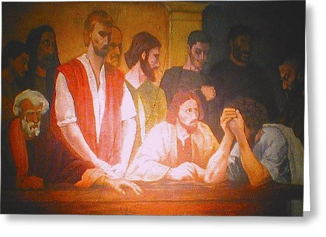 After The Last Supper Greeting Card by G Cuffia