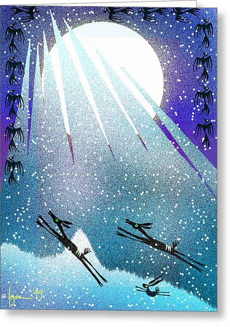 After The Moon Greeting Card