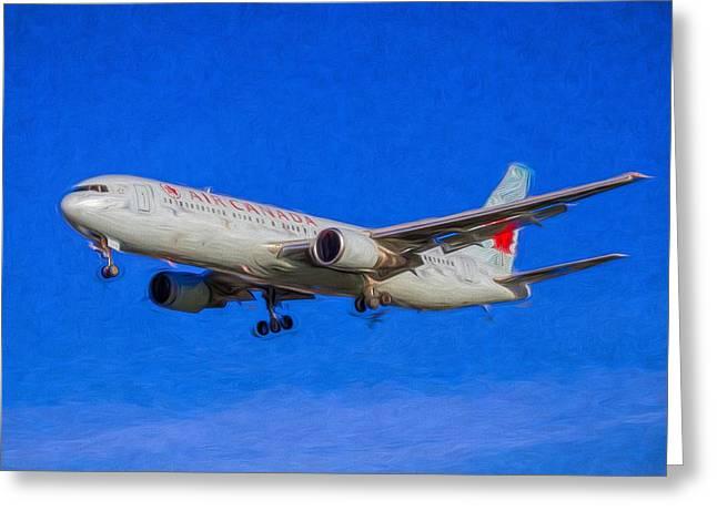 Air Canada Boeing 767 Art Greeting Card