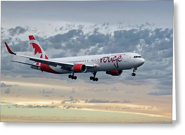 Air Canada Rouge Boeing 767-333 Greeting Card