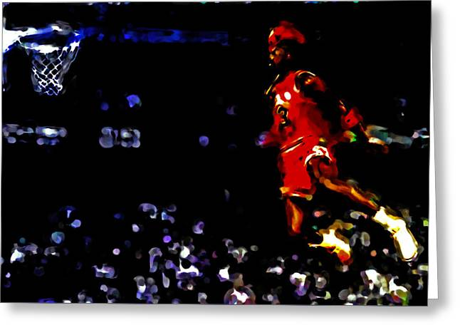 Air Jordan In Flight Iv Greeting Card by Brian Reaves