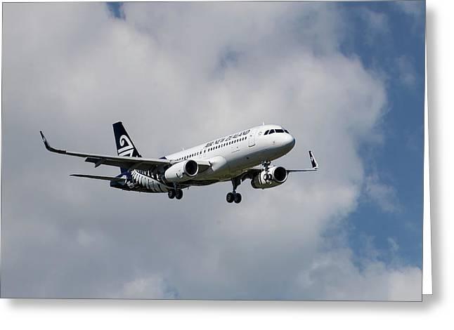 Air New Zealand Airbus A320 Greeting Card