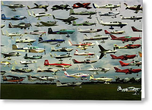 Airventure Cup Air Race, 2017 - Panorama Greeting Card