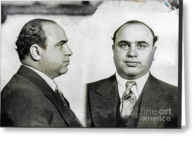 Al Capone Mugshot Greeting Card