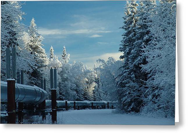 Alaska Pipeline Greeting Card