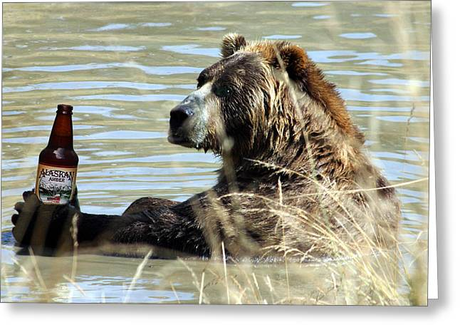 Alaskan Amber Greeting Card by Wildcat Photography