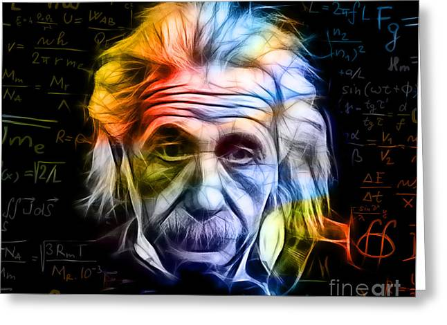 Albert Einstein Collection Greeting Card by Marvin Blaine