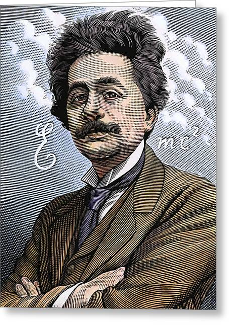 Albert Einstein, Physicist Greeting Card by Bill Sanderson