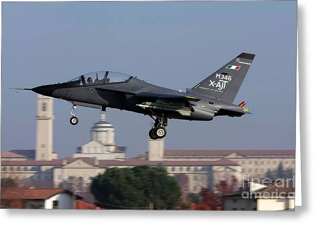 Greeting Card featuring the photograph Alenia Aermacchi M-346 - X-ajt by Amos Dor