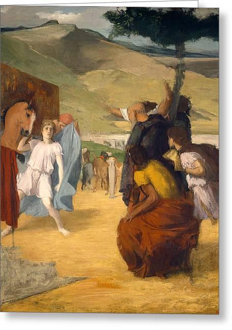 Alexander And Bucephalus Greeting Card by Edgar Degas