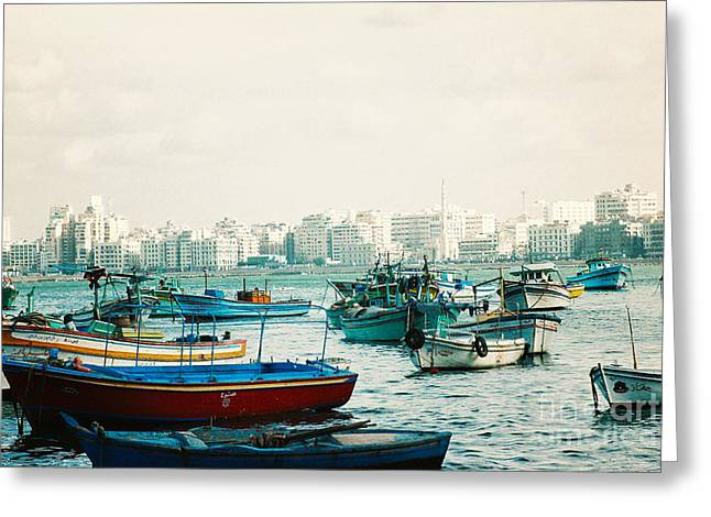 Alexandrian Harbour Greeting Card