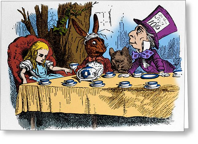 Alice In Wonderland Greeting Card by Photo Researchers, Inc.