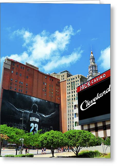 All In Cleveland Greeting Card