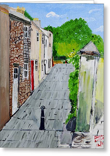 Greeting Card featuring the painting Alleyway by Swabby Soileau