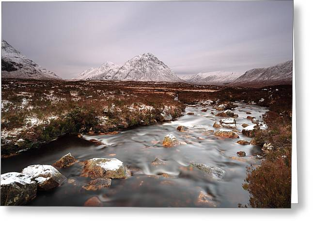 Allt Nan Giubhas And The Peak Of Stob Dearg Greeting Card