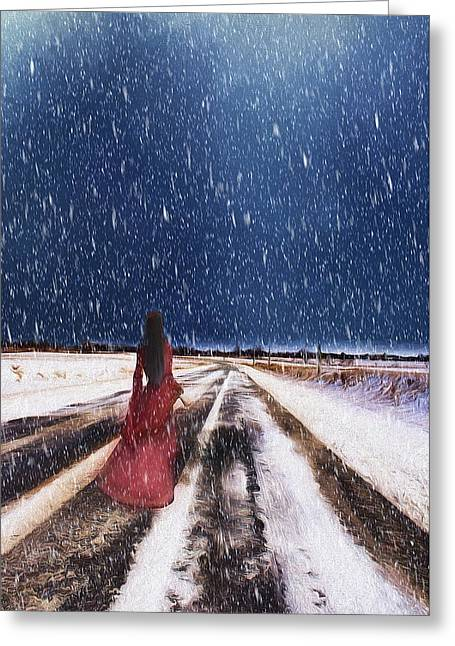 Alone In The Cold Greeting Card